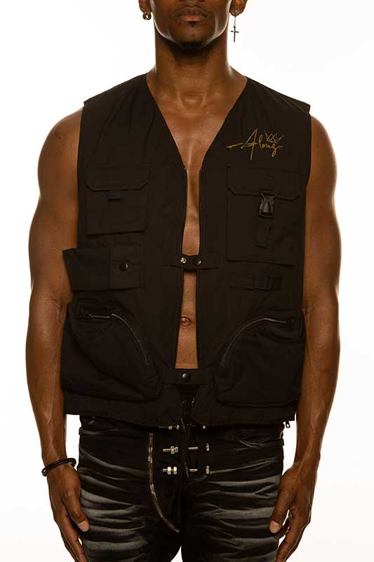 ALONZO Vest With Gold Logo